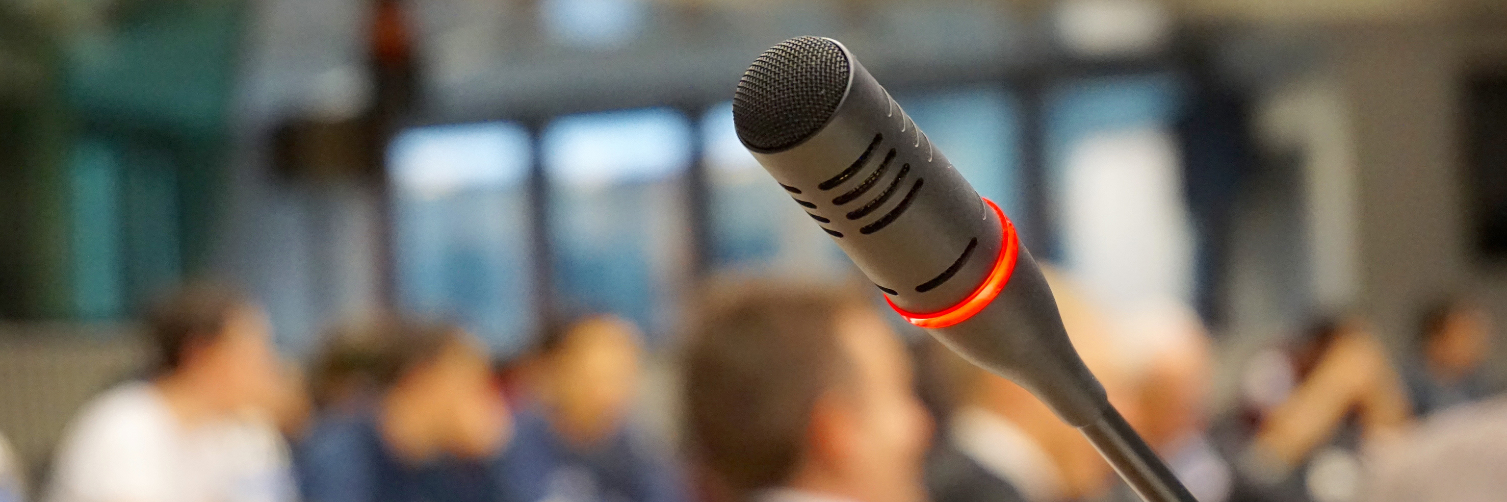 Podium microphone at an event