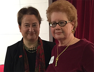 Provost Lauren Robel and Kathy Wyss
