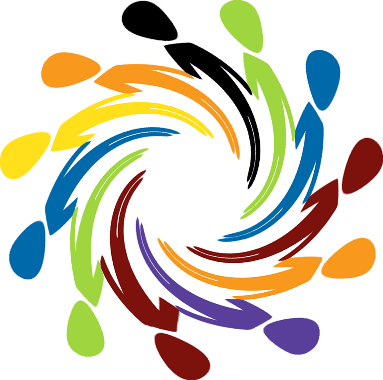 "Our diversity logo is a circular swirl of ""stick"" people in many colors joining hands."