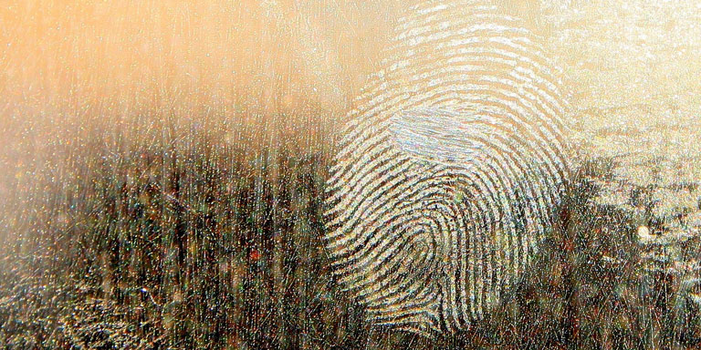 Photo of a dirty fingerprint.